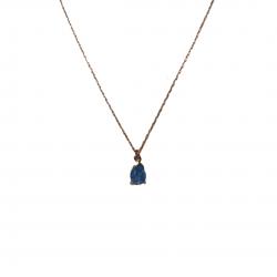 Gümüş kolye-Mavi damla taşlı