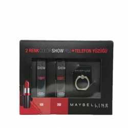 2'li ruj seti-telefon yüzüğü hediyeli-Maybelline New York Color Show