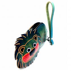 Bayan deri cüzdan-Yeşil arslan